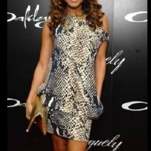 SALE DVF Mercedes snakeskin dress